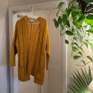 Mustard Knitted Cardigan 🧶